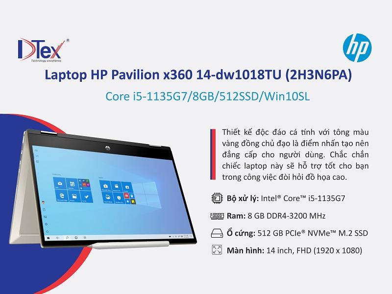 Địa chỉ mua Laptop họp online HP Pavilion x360 14-dw1018TU tại 703/18 Tỉnh Lộ 10, Phường Bình Trị Đông B, Quận Bình Tân